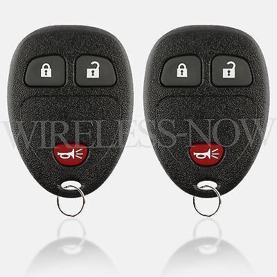 2 Car Key Fob Remote 2Btn For 07 2008 2009 2010 2011 2012 2013 Chevy Silverado