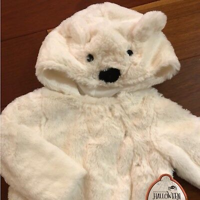 NWT Pottery Barn Kids ~BABY POLAR BEAR~ HALLOWEEN Costume (6-12 M) ~FAUX FUR~](Kid Bear Costume)
