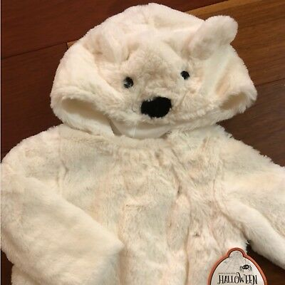 NWT Pottery Barn Kids ~BABY POLAR BEAR~ HALLOWEEN Costume (6-12 M) ~FAUX FUR~ - Infant Bear Costumes