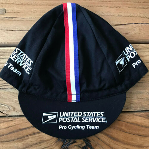 USPS Pro Cycling Team Cap Classic Hat Black, White or 2-tone Free Shipping