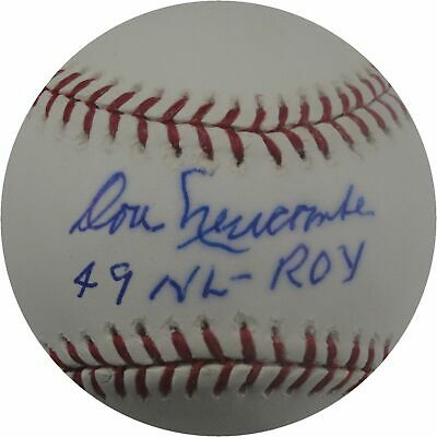 Don Newcombe Autographed MLB Baseball Los Angeles Dodgers 49 NL ROY  Plus COA Don Newcombe Autographed Baseball