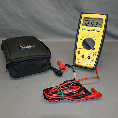 Ideal 61-481 Digital Multimeter Commercial Grade Platinumpro 480 Series
