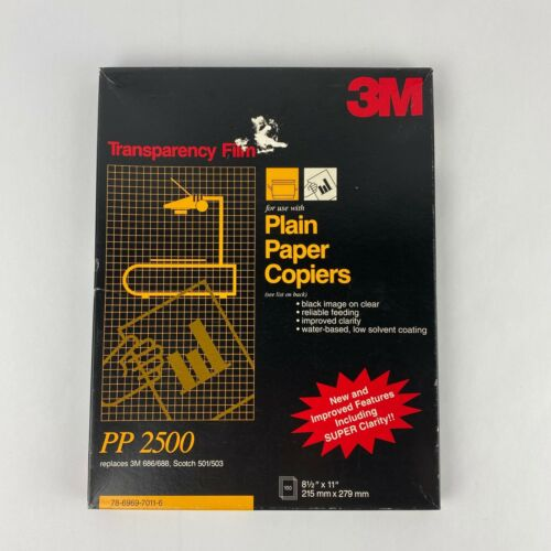 3M TRANSPARENCY FILM 100 SHEETS 8 1/2 X 11 PP2500