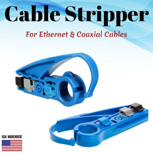 Cable Stripper Coaxial Ethernet UTP Wire Cutter Tool RG59 RG6 RG7 RG9 CAT5e CAT6