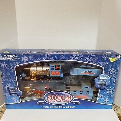 Rudolph The Red Nosed Reindeer Rudolph's Red Nose Express Train Set NEW 12 Feet