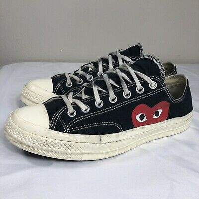 Converse Comme Des Garcons PLAY Chuck Taylor Low Men's 11 Black CDG All