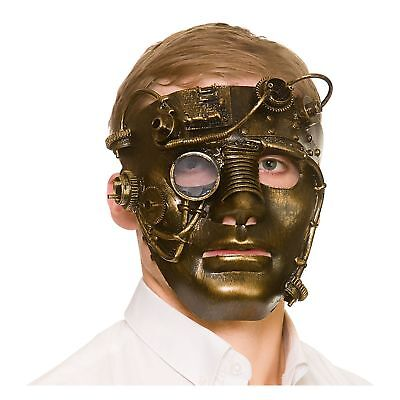 Deluxe Robot Steampunk Halloween Mask Adults Mens Fancy Dress Costume Accessory](Halloween Costumes Robot)