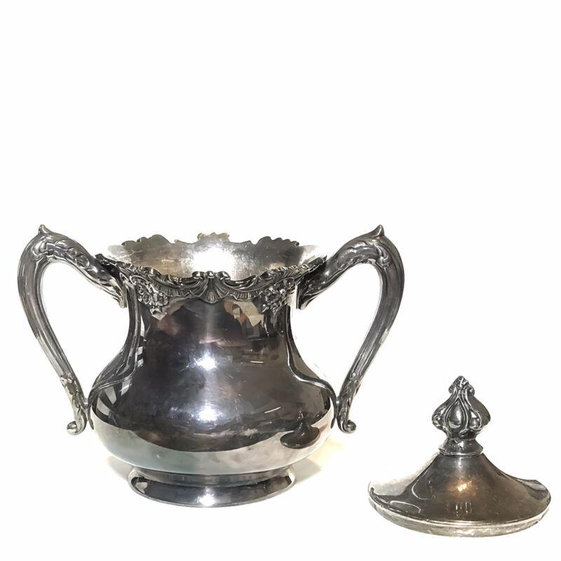 Reed Barton Silverplate Sugar Bowl Gilt 3515 Victorian Non Matching Lid