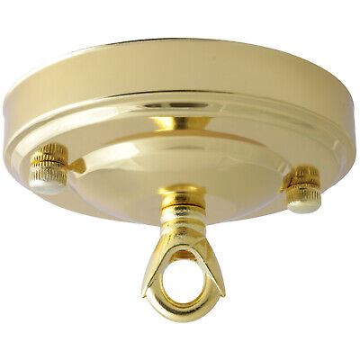 106 Vintage Brass Finish (Vintage Ceiling Rose In Polished Brass Finish 106mm Dia with Chain Loop )