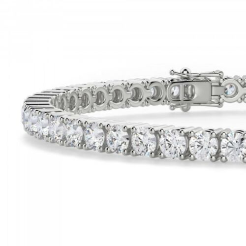 10 Ct Diamond Tennis Bracelet for Women Men in 14K White Gold Over Diamonds