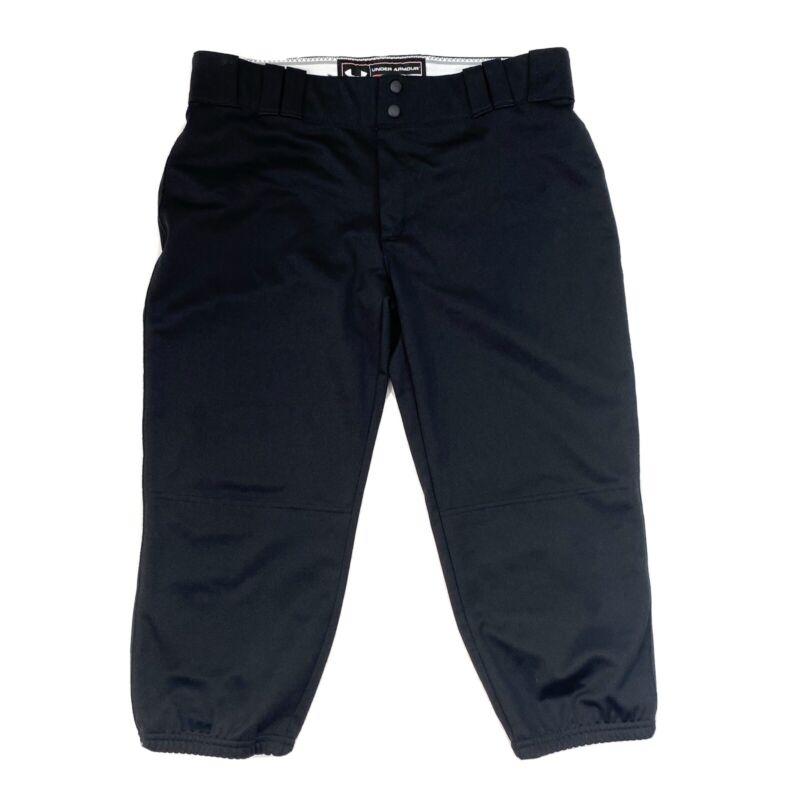 Under Armour Authentic Baseball Pants Mens XL Black Loose All Season Gear