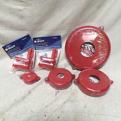 Brady Lk095e Valve Lockout Kit Polypropylene Red
