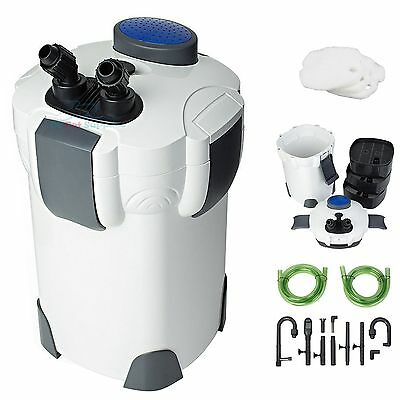 Aquarium 3-Stage External Canister Filter 265 GPH for Fresh/Salt Water 75 Gal