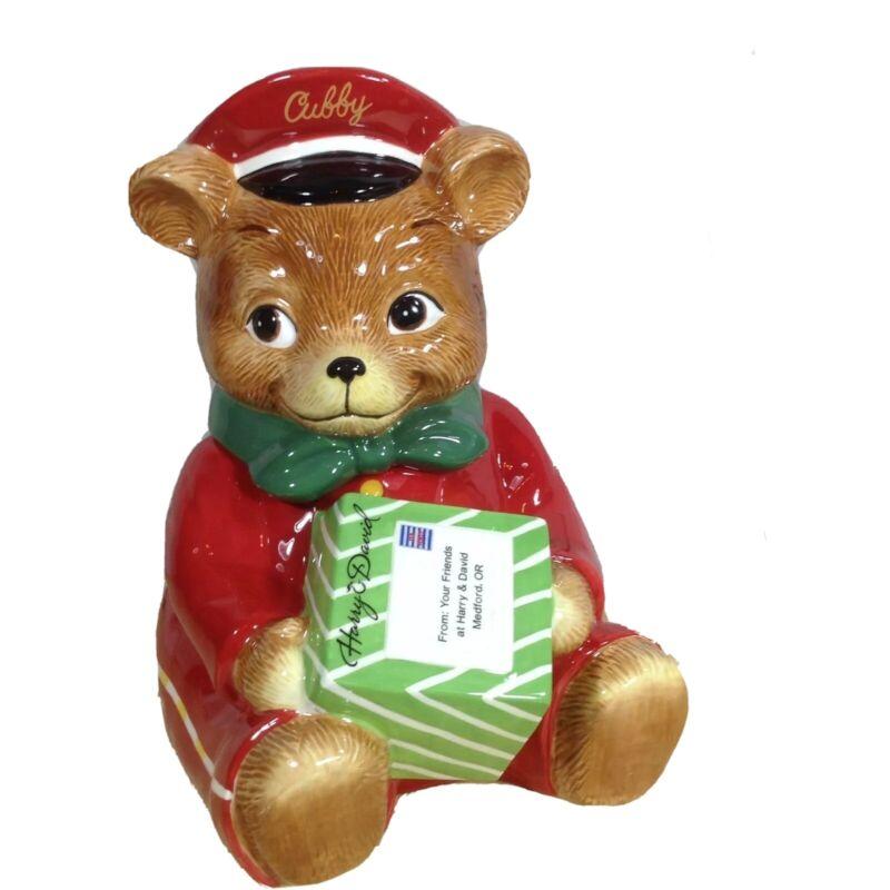 Harry & David Chubby Postmen 2010 Cookie Jar Christmas Holiday Bear