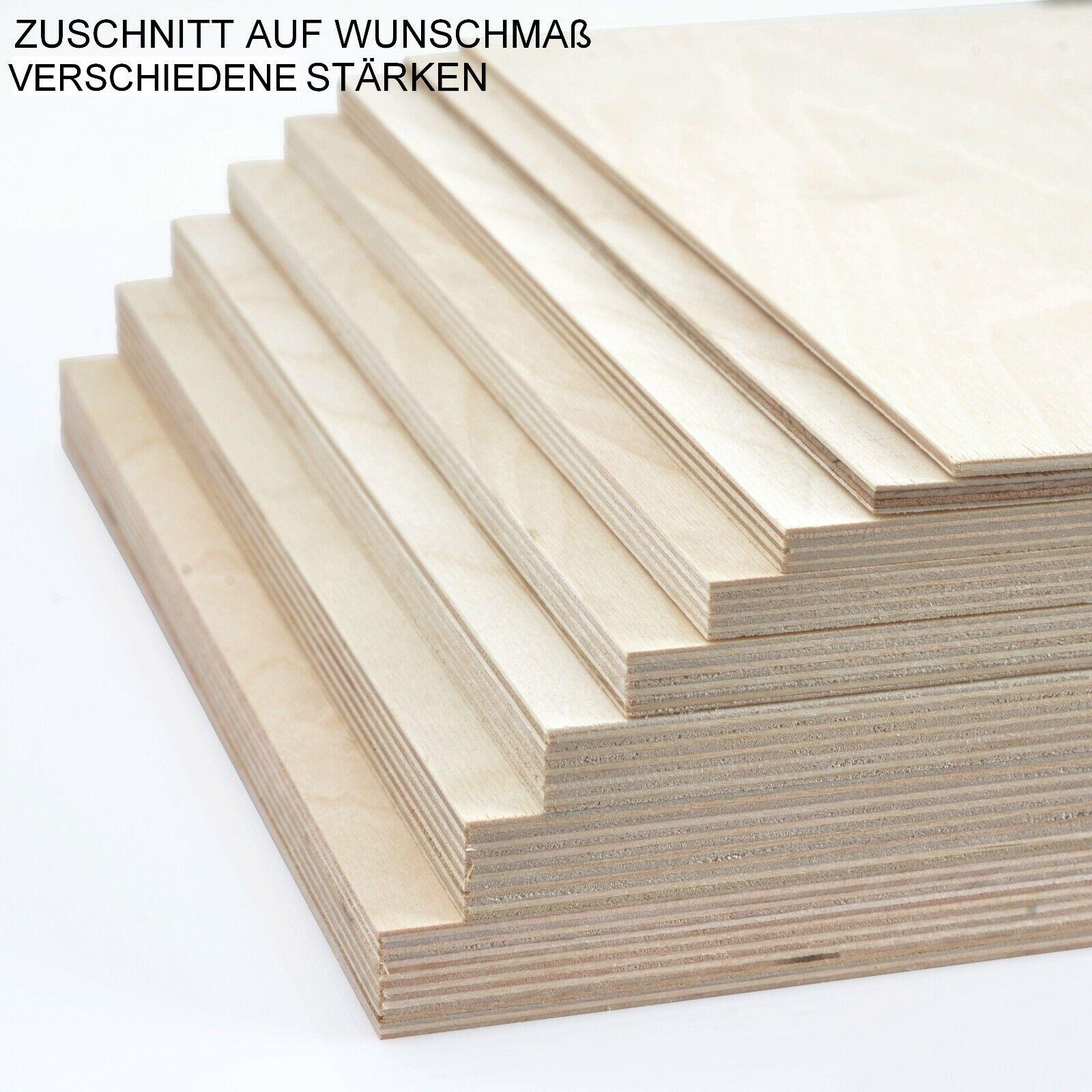 Siebdruckplatte 15mm Zuschnitt Multiplex Birke Holz Bodenplatte 180x140 cm