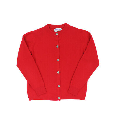 "VTG Ballantyne of Peebles Women Small 39"" 100% Pure Cashmere Button Cardigan"