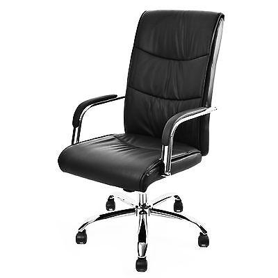 Bürostuhl Kunstleder schwarz Drehstuhl Schreibtischstuhl Chefsessel Büro-sessel