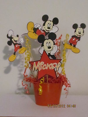 MICKEY MOUSE~CENTERPIECE~~DISNEY~~Birthday Party Decorations~~die cuts~Worldwide - Mickey Mouse Centerpieces
