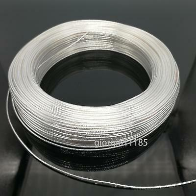 Us Stock 40 Feet 20 Awg High Temperature Teflon Ptfe Silver Plated Wire 0.5mm2