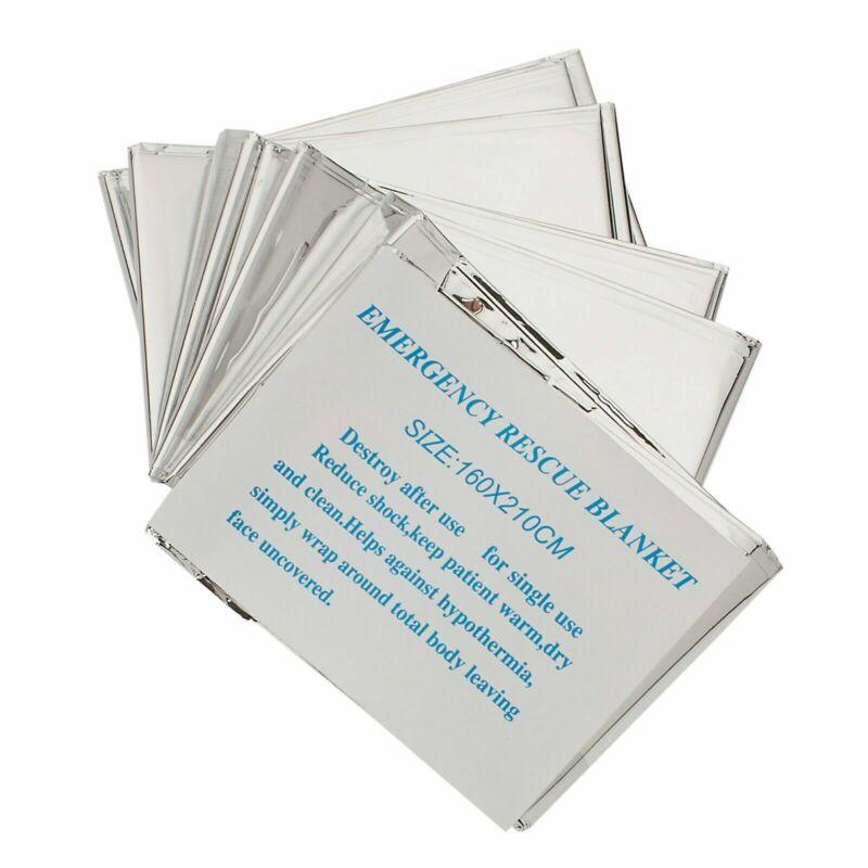 Emergency Mylar Thermal Blanket, Foil Rescue Survival Blanket - SILVER