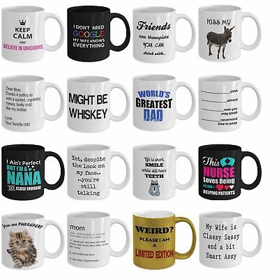 Funny coffee tea mugs best gift for mom dad nurse nana wife friends cat (Best Gift For Tea Lovers)