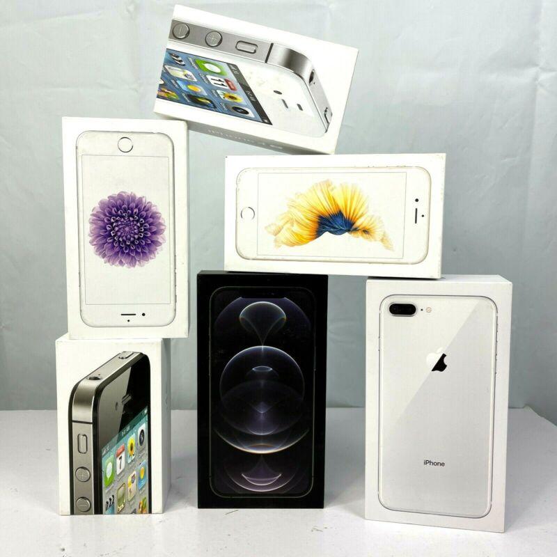 Apple iPhone Empty Box Bundle 6 Container Only Bundle NO PHONES 4s-X 2012-2020