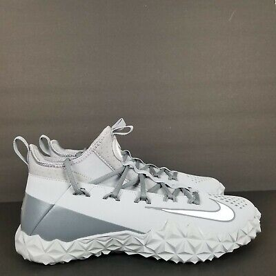 NIKE ALPHA HUARACHE 6 ELITE TURF SHOES LACROSSE WOLF GRAY 923426-012 SZ.11