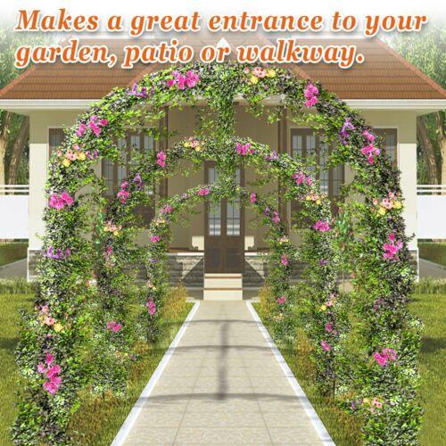 Multi-size Steel Garden Arch Rose Arbor Climbing Plant Grape Vine Outdoor Garden