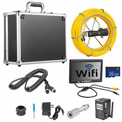 7 Lcd Pipe Inspection Pipeline 20m Drain Wifi 16g Sewer Waterproof Camera Wdvr