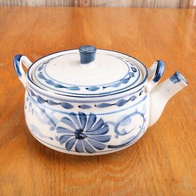 Blue White Flower Pattern Porcelain Incense Burner Teapot