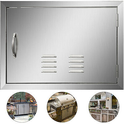 61*43CM Outdoor Kitchen / BBQ Island Stainless Steel Single Access Door W/ Vent