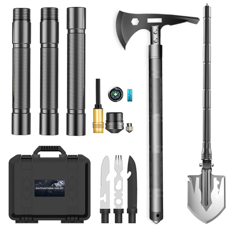 11in1 Survival Military Folding Shovel Axe Multi-Tool Tactical Entrenching Tools