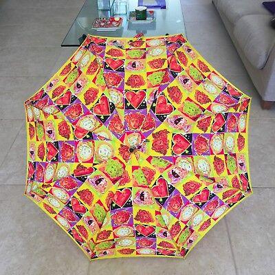 GIANNI VERSACE yellow umbrella Pop Art Medusa head & Heart Warhol & Dine