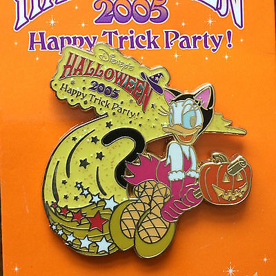 Party Halloween Store (Japan Disney Store JDS Halloween 2005 Happy Trick Party Daisy as Black Cat Pin)