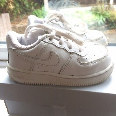 Nike Air Force 1 Infant White Size 7 Boxed