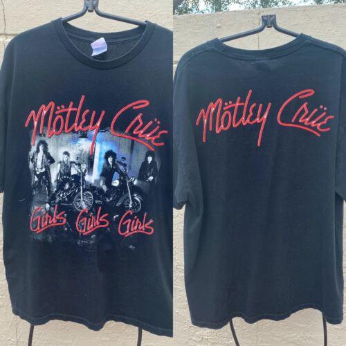 VINTAGE 2001 MOTLEY CRUE GIRLS, GIRLS, GIRLS MENS T SHIRT SZ XL