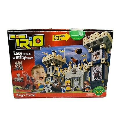 Fisher Price Trio King's Castle Building Block Learning Toy Set 200+ Pieces