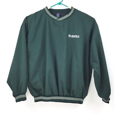 Vintage Wind Breaker Vantage V-neck Green Pull Over Men Size Large Sweater