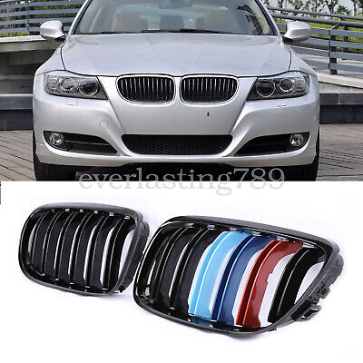 Kidney Grill Grille M-Color Gloss Black For BMW E90 2009-2011 4D
