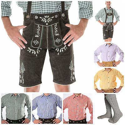 German Bavarian Oktoberfest Trachten Package/Set {Lederhosen+Shirt+Socks} SID