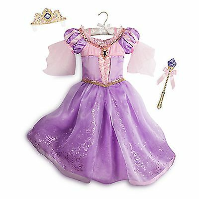 Disney Store Rapunzel Deluxe Princess Interactive Light Up Costume Tiara - Light Up Princess Kostüm