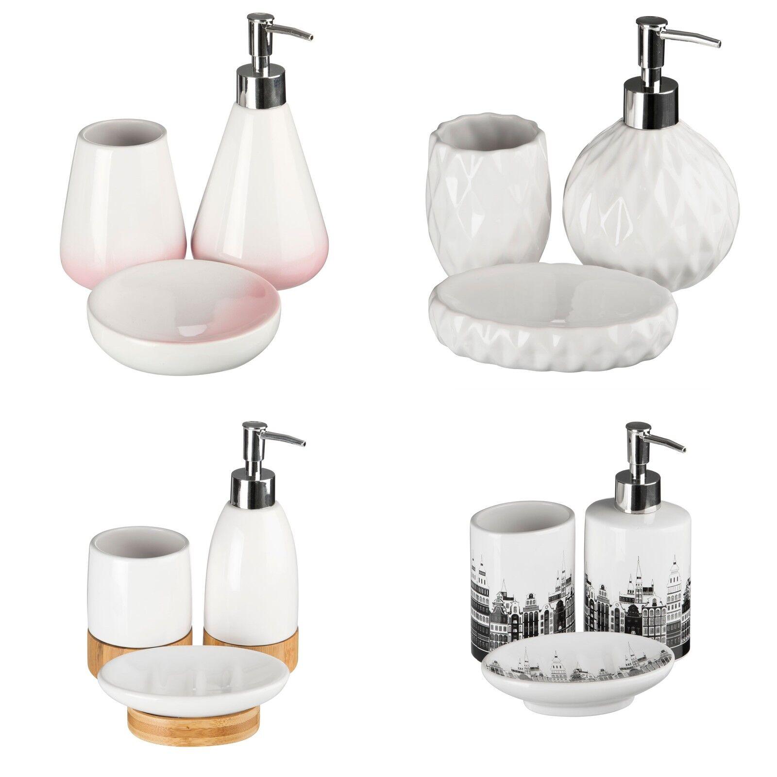Stylish 3pc Bathroom Set Ceramic Home Office Bathroom Accessories ...