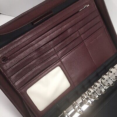 Day-timer Leather Desk Planner Zipper Organizer Fits Franklin Covey Classic