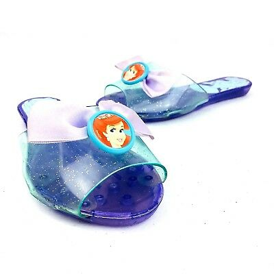 Disney Princess Ariel Girls Slides Purple Dress Up Shoes Little Mermaid Size 8 - Little Girls Dress Up Shoes