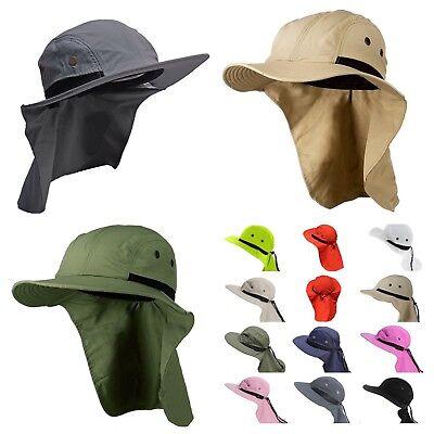 ( Boonie Snap Hat Brim Ear Neck Cover Sun Flap Cap Hunting Fishing Hiking Bucket)