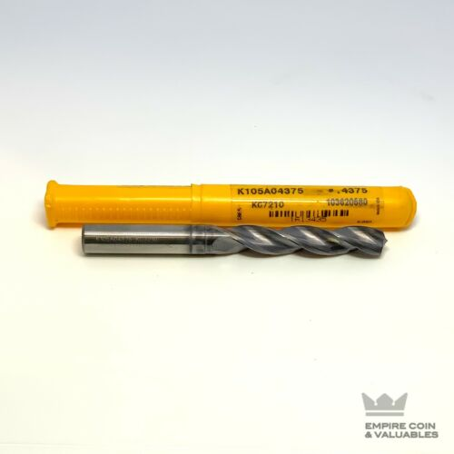 """Kennametal 7/16"""" solid TiAlN-PVD-coated carbide TF Drill K105A04375 KC7210 *W1C1"""