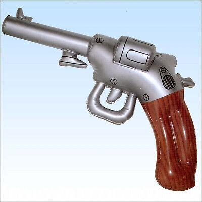 Aufblasbarer Revolver ca. 50cm Pistole aufblasbar Polizist Gangster - Aufblasbare Pistole