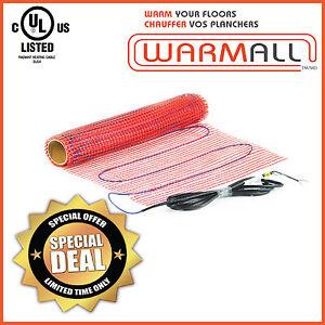 warm all electric tile floor heating mat radiant 120v 90 sq ft
