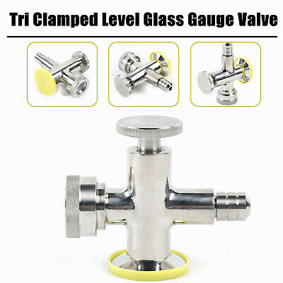 Sight Level Glass Gauge Valve Lower Stainless Steel Ss304 With Sampling Valve