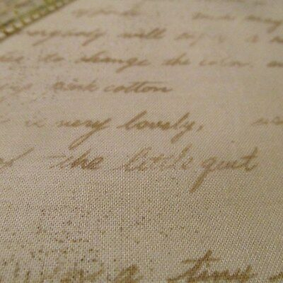 March Fabric - Mrs. March's Collection Lecien words cursive script cotton fabric BTHY half yard